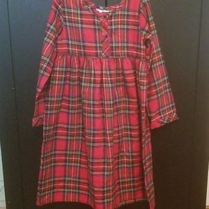 Girls Christmas Plaid nightgown
